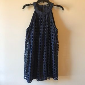 Navy Blue Romeo & Juliet Couture Eyelet Dress